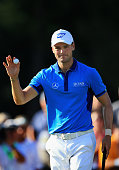 Martin Kaymer of Germany waves to the gallery on the 18th green after his fiverunder par 65 during the first round of the 114th US Open at Pinehurst...