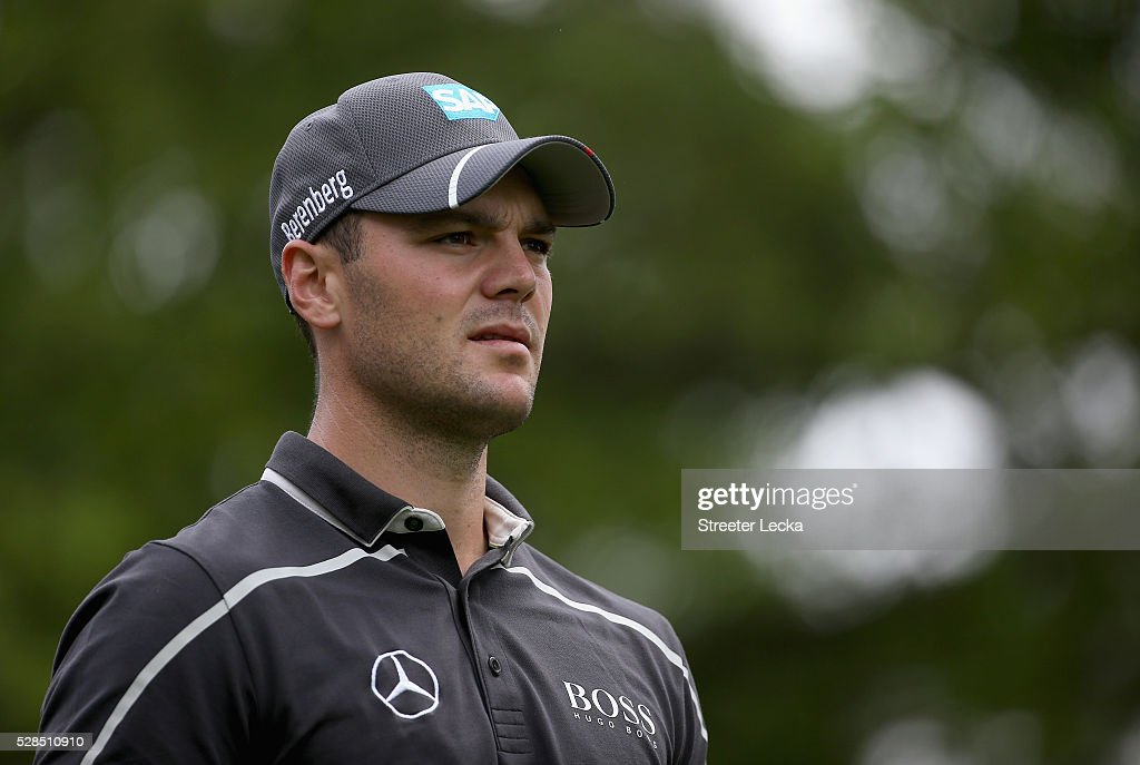 Martin Kaymer walks on the sixth hole during the first round of the 2016 Wells Fargo Championship at Quail Hollow Club on May 5, 2016 in Charlotte, North Carolina.