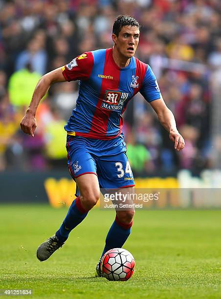 Martin Kelly of Crystal Palace during the Barclays Premier League match between Crystal Palace and West Bromwich Albion at Selhurst Park on October 2...