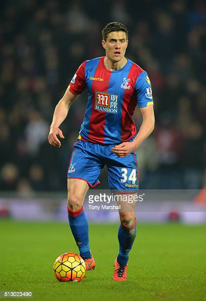 Martin Kelly of Crystal Palace during the Barclays Premier League match between West Bromwich Albion and Crystal Palace at The Hawthorns on February...