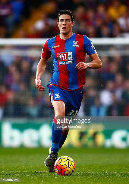 Martin Kelly of Crystal Palace in action during the Barclays Premier League match between Crystal Palace and Manchester United at Selhurst Park on...