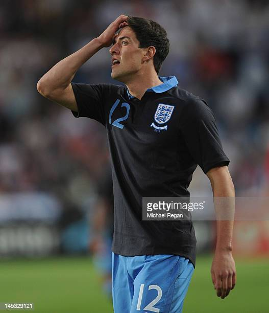 Martin Kelly of England looks on during the international friendly match between Norway and England at the Ullevaal Stadion on May 26 2012 in Oslo...