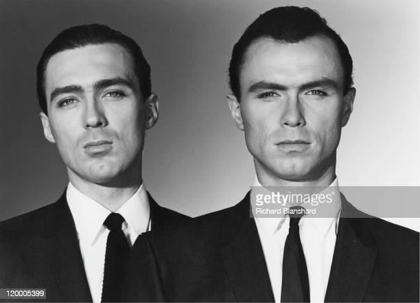 Martin Kemp and his brother Gary as British gangsters Reggie and Ronnie Kray respectively in 'The Krays' directed by Peter Medak 1990 The Kemps are...
