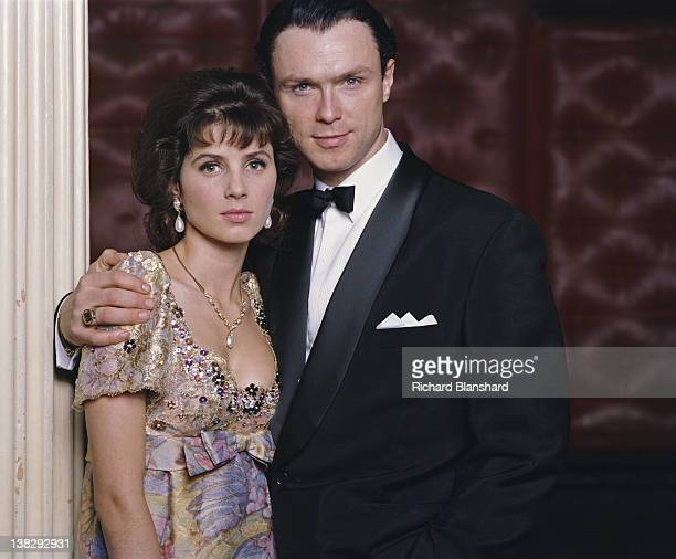 Martin Kemp as Reggie Kray and Sadie Frostas Sharon Pellam in the biopic film 'The Krays' 1990