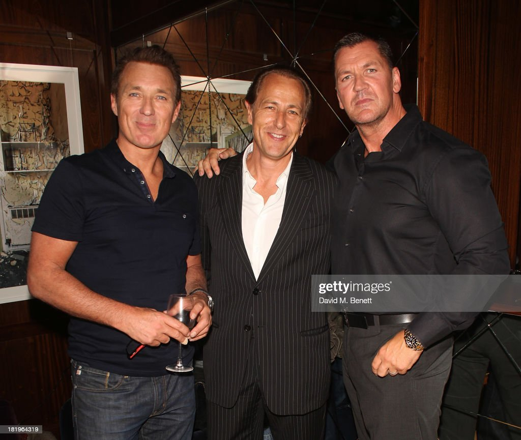 <a gi-track='captionPersonalityLinkClicked' href=/galleries/search?phrase=Martin+Kemp&family=editorial&specificpeople=213385 ng-click='$event.stopPropagation()'>Martin Kemp</a>, Bruce Payne and Craig Fairbrass attend a drinks reception celebrating the new co-production agreement between Anchor Bay Films and Richwater Films at The Groucho Club on September 26, 2013 in London, England.