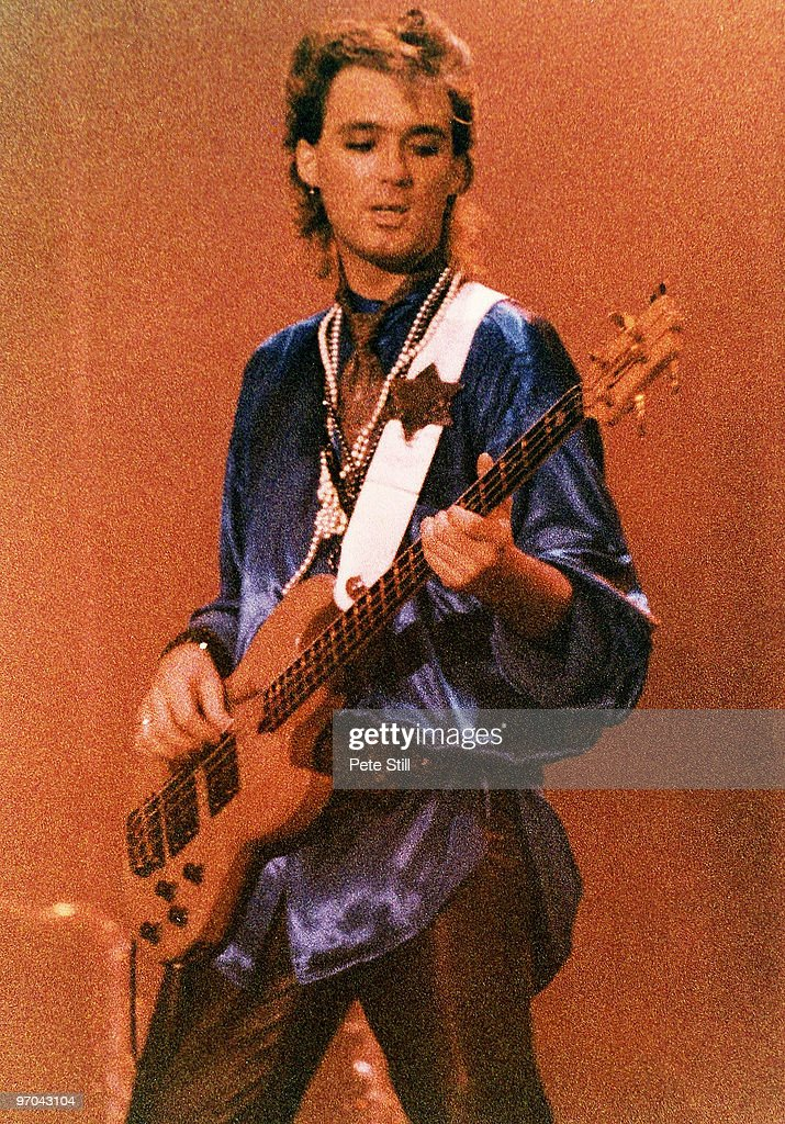 Martin Kemp of Spandau Ballet performs on stage on the 'Parade' tour at Wembley Arena on December 8th, 1984 in London, England.