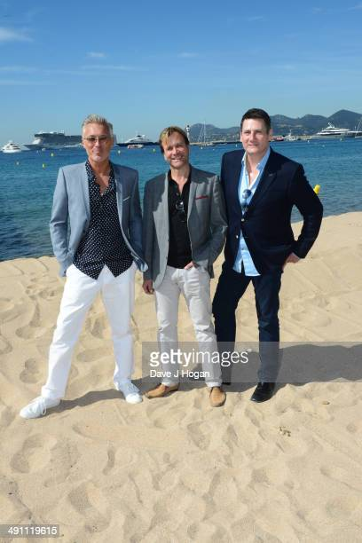 Martin Kemp Steve Norman and Tony Hadley attend the 'Soulboys of The Western World Spandau Ballet The Movie' photocall during the 67th Annual Cannes...
