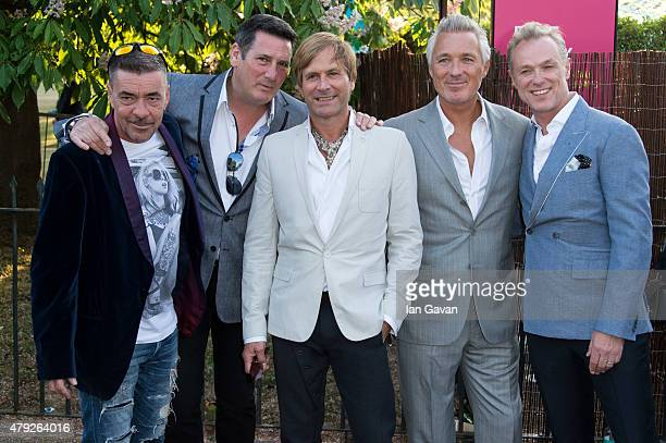 Martin Kemp Tony Hadley Gary Kemp Steve Norman and John Keeble of Spandau Ballet attend the Serpentine Gallery Summer Party at The Serpentine Gallery...