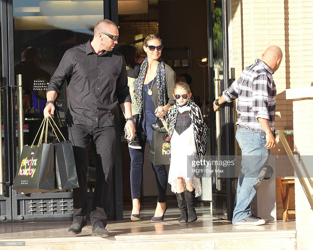 Martin Kirsten, Lou Sulola Samuel, Heidi Klum and Leni Samuel as seen on January 2, 2013 in Los Angeles, California.