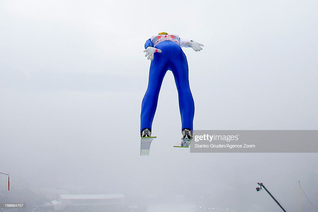Martin Koch of Austria during the FIS Ski Jumping World Cup Vierschanzentournee (Four Hills Tournament) on January 04, 2013 in Innsbruck, Austria.