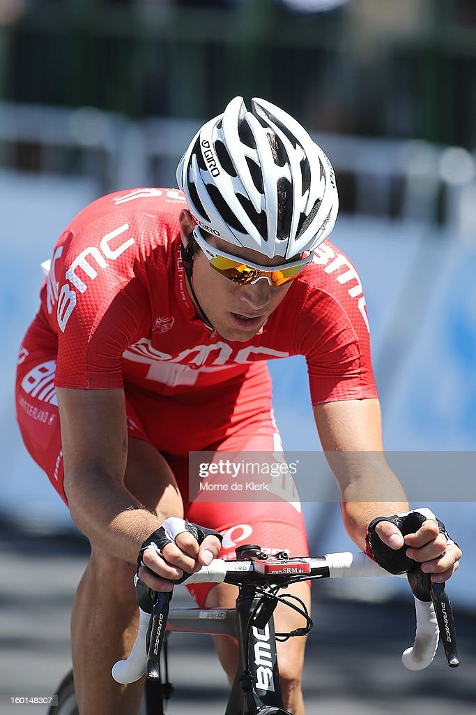 Martin Kohler of Switzerland and the BMC Racing Team rides during stage six of the Tour Down Under on January 27, 2013 in Adelaide, Australia.