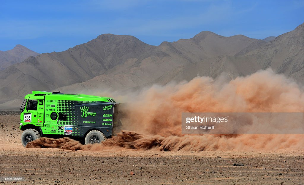 Martin Kolomy of team Tatra competes in stage 12 from Fiambala to Copiapo during the 2013 Dakar Rally on January 17, 2013 in Fiambala, Argentina.