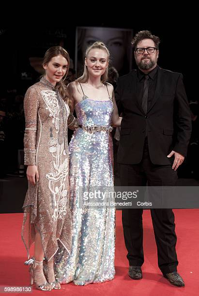 Martin Koolhoven actresses Dakota Fanning and Emilia Jones attend a premiere for 'Brimstone' during the 73rd Venice Film Festival at on September 3...