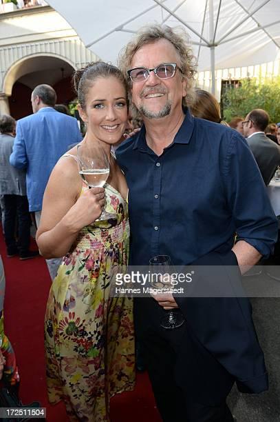 Martin Krug and actress Yvonne Burbach attend the Bavaria Reception during the Munich Film Festival 2013 at Kuenstlerhaus am Lenbachplatz on July 2...