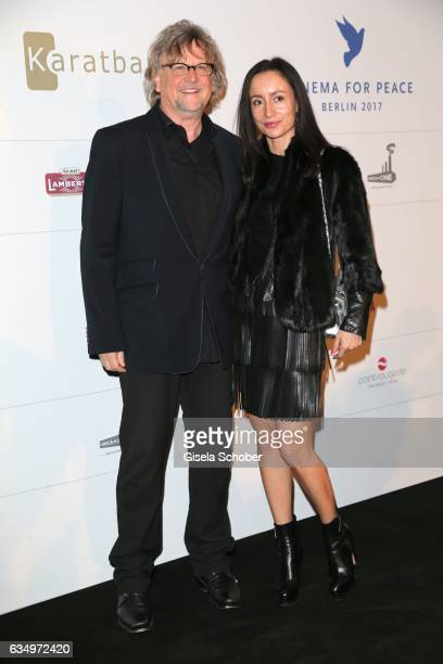 Martin Krug and his girlfriend Alina Grohn during the reception for the Cinema for Peace Foundation at China Club during the 67th Berlinale...