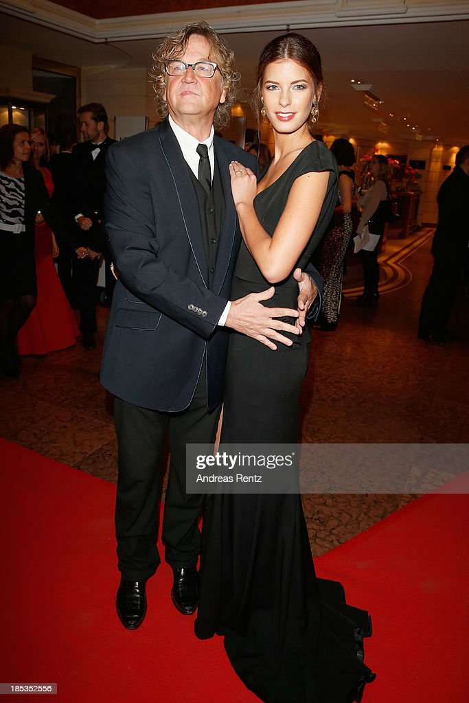 Martin Krug and Julia Trainer attend Audi Generation Award 2013 on October 19, 2013 in Munich, Germany.