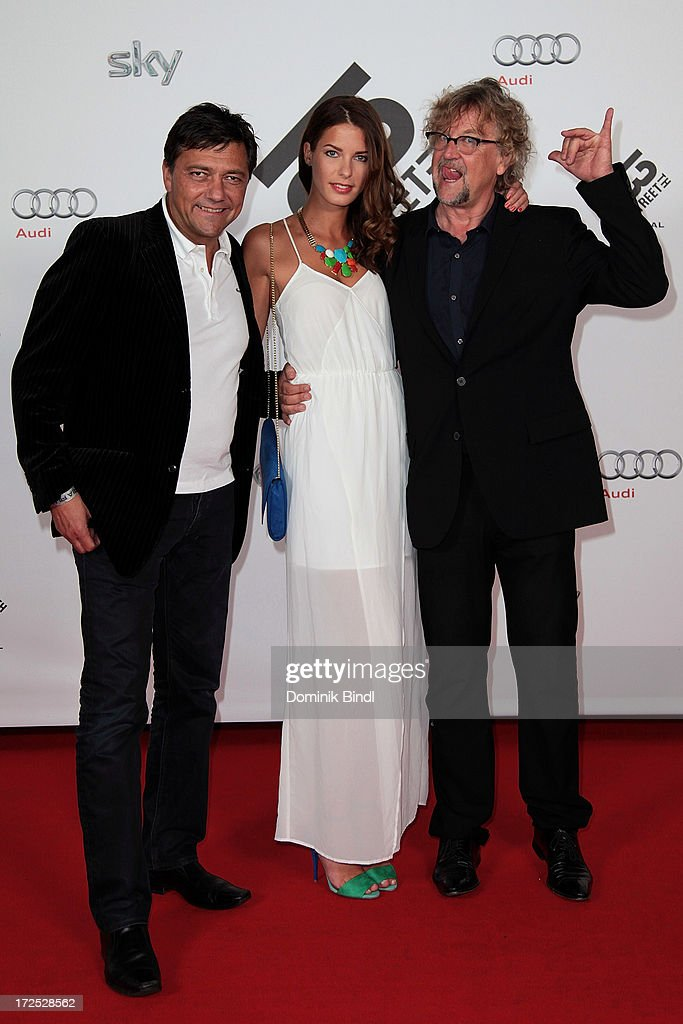 <a gi-track='captionPersonalityLinkClicked' href=/galleries/search?phrase=Martin+Krug&family=editorial&specificpeople=574482 ng-click='$event.stopPropagation()'>Martin Krug</a> and Julia Trainer attend the Shocking Shorts Award at Galerie der Kuenstler on July 2, 2013 in Munich, Germany.