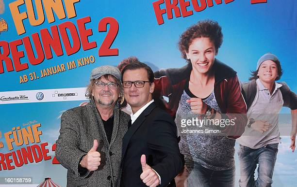 Martin Krug and Torsten Koch arrives for the 'Fuenf Freunde 2' movie premiere at CineMaxx Cinema on January 27 2013 in Munich Germany