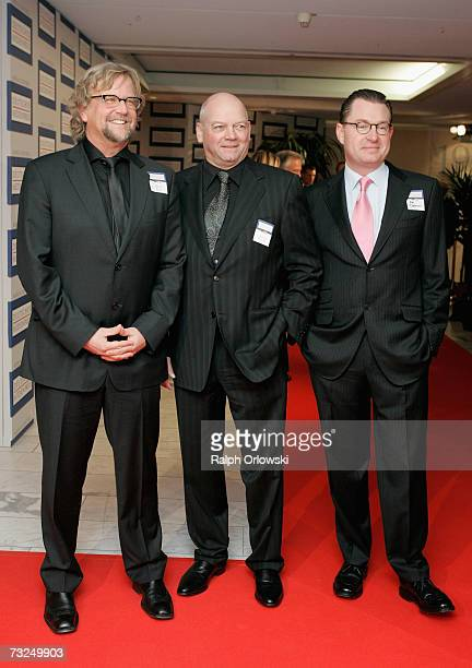 Martin Krug Joachim Hunold CEO of German airline Air Berlin and Kai Diekmann chief editor of German Newspaper Bild arrive at the German Media Awards...