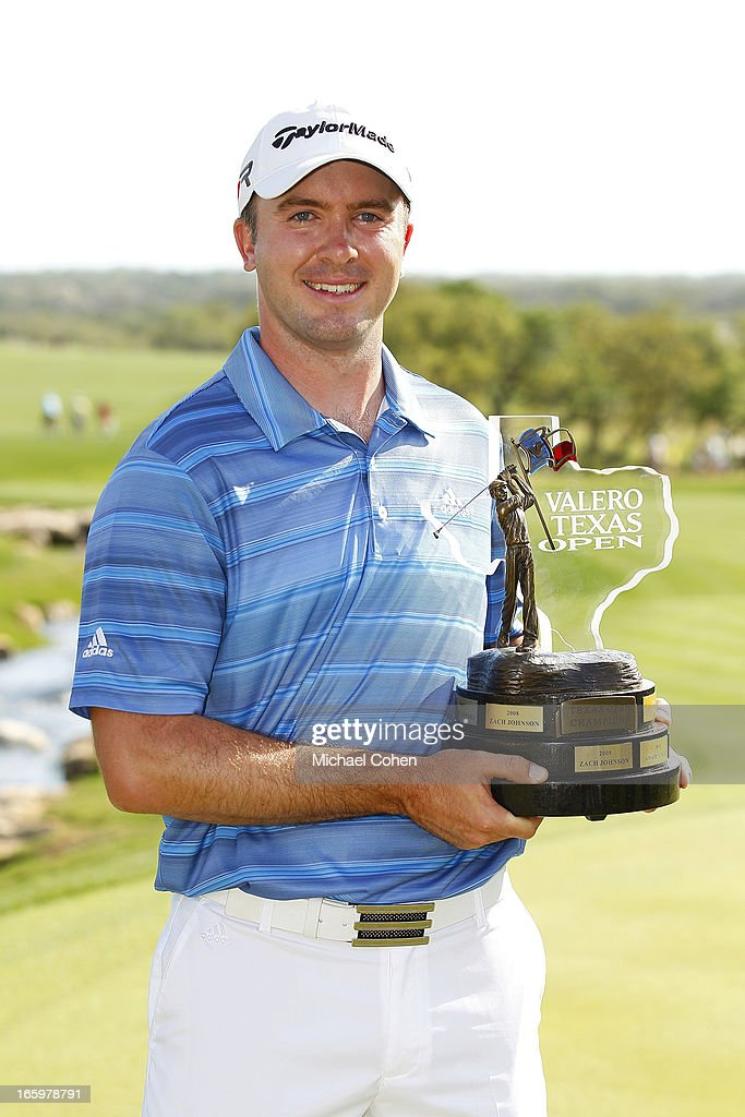<a gi-track='captionPersonalityLinkClicked' href=/galleries/search?phrase=Martin+Laird&family=editorial&specificpeople=4333409 ng-click='$event.stopPropagation()'>Martin Laird</a> of Scotland holds the trophy after winning the Valero Texas Open held at the AT&T Oaks Course at TPC San Antonio on April 7, 2013 in San Antonio, Texas.