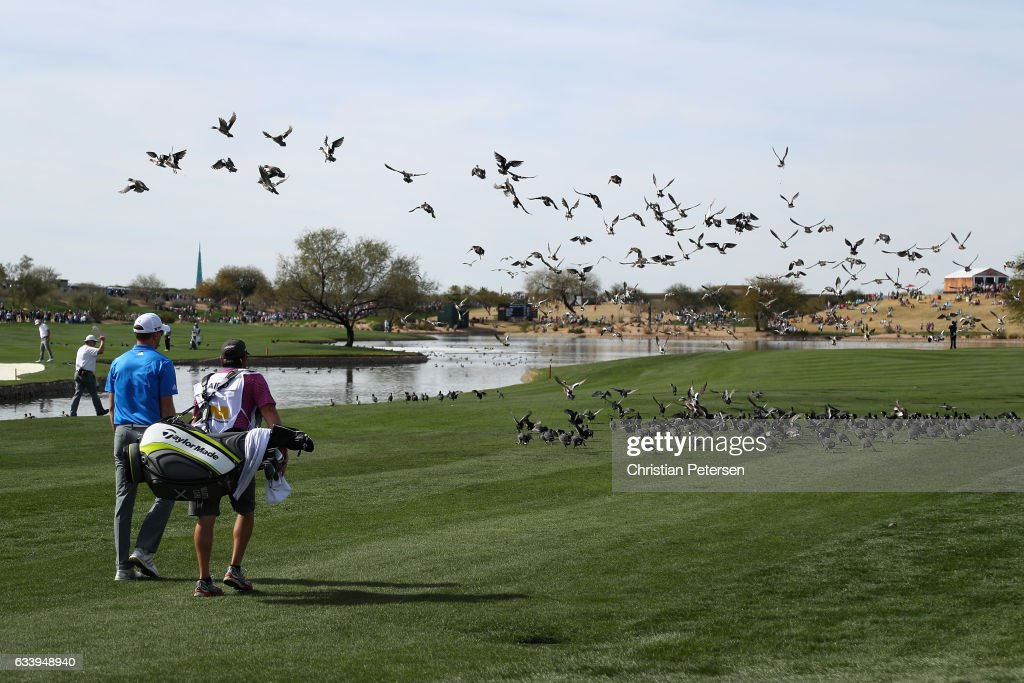 Martin Laird of Scotland walks down the 11th hole during the final round of the Waste Management Phoenix Open at TPC Scottsdale on February 5, 2017 in Scottsdale, Arizona.