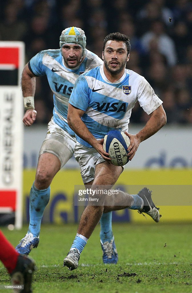 Martin Landajo of Argentina in action during the rugby autumn international between France and Argentina (39-22) at the Grand Stade Lille Metropole on November 17, 2012 in Lille, France.