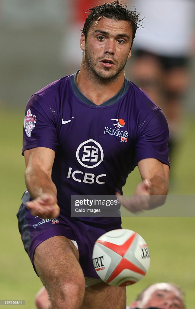 Martin Landajo of ICBC Pampas during the Vodacom Cup match between Sharks XV and ICBC Pampas XV at Kings Park on April 26, 2013 in Durban, South Africa.