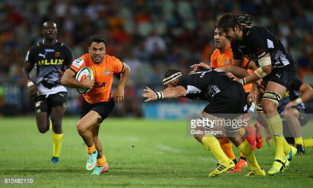 Martin Landajo of the Jaguares during the 2016 Super Rugby match between Toyota Cheetahs and Jaguares at Toyota Stadium on February 26 2016 in...
