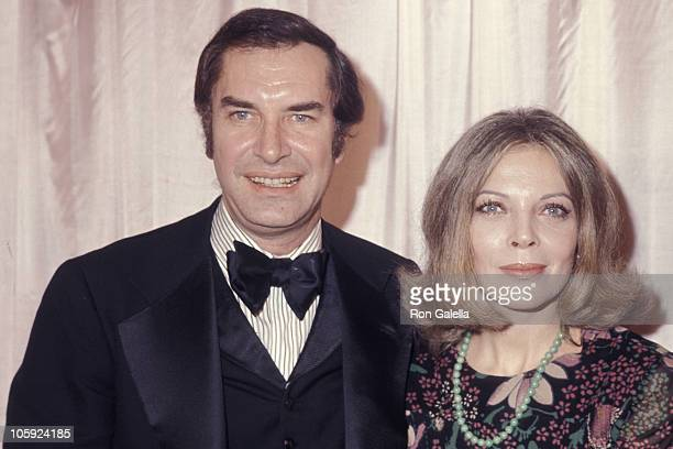 Martin Landau and Barbara Bain during 29th Annual Golden Globe Awards at Hilton Hotel in Beverly Hills California United States
