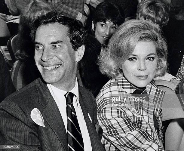 Martin Landau and Barbara Bain during McCarthy Fundraising Dinner and Party at The Playboy Club in Beverly Hills California United States