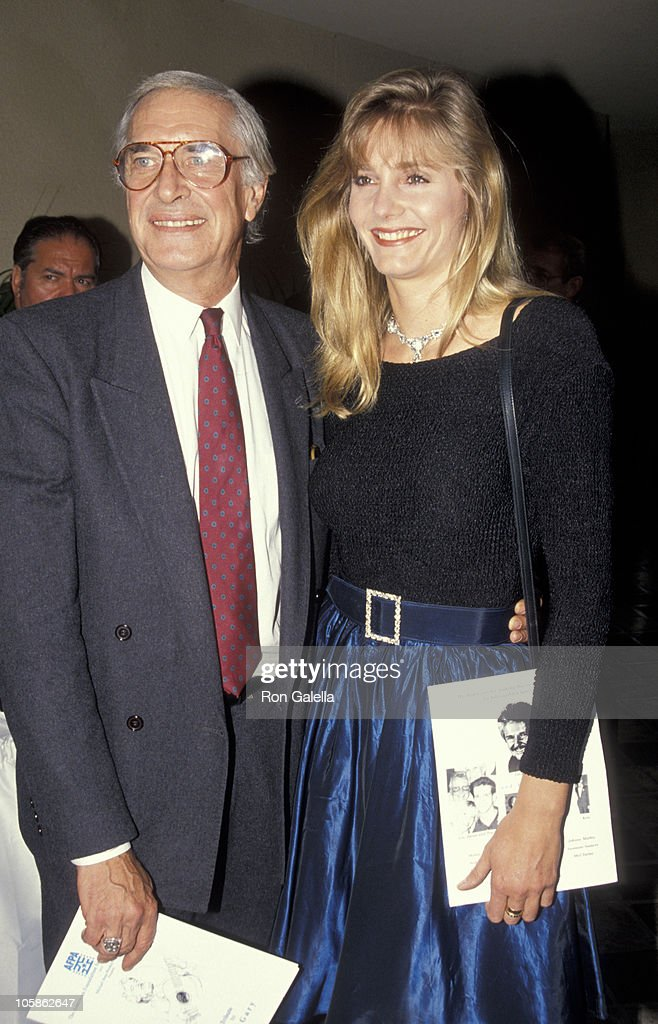 Martin Landau and Gretchen Becker during Benefit Fundraiser for John Gary at Bel Age Hotel in West Hollywood, California, United States.