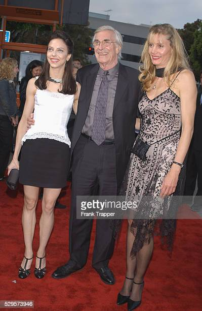 Martin Landau with his daughter Juliet Landau and Gretchen Becker arriving at the premiere of 'Hollywood Homicide'
