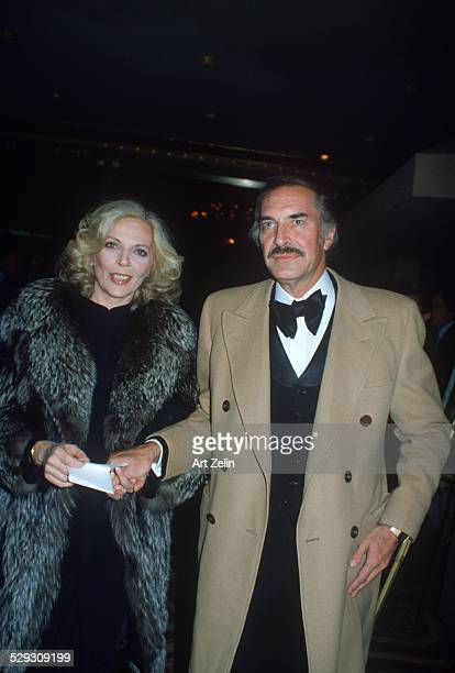 Martin Landau with his wife Barbara Bain on their way to a formal event circa 1970 New York