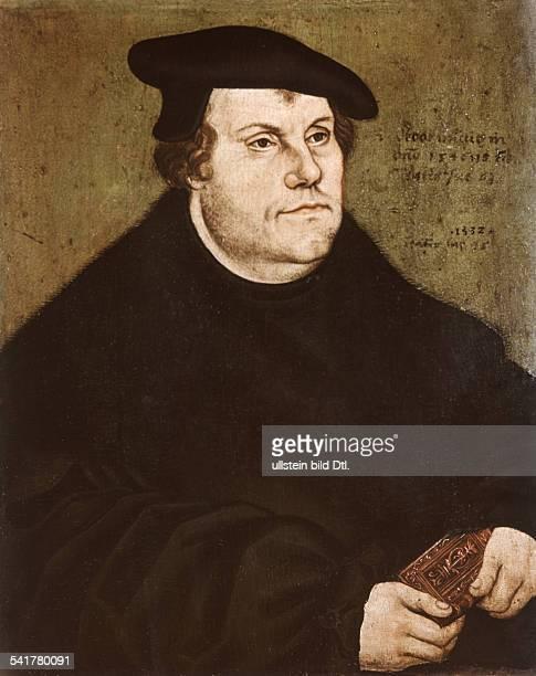Martin Luther *1011148318021546 Reformator Germany portrait on beechwood by Lucas Cranach the Elder 1530