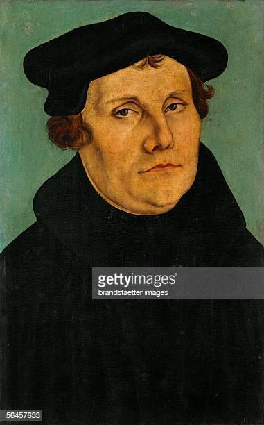 Martin Luther by Lucas Cranach the Elder Oil on wood 1529 37 x 27 cm Inv 1160 [Martin Luther Gemaelde 1529]