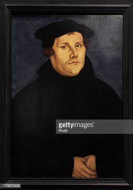 Martin Luther German monk icon of the Protestant Reformation Portrait by Lucas Cranach the Elder 1529 German Historical Museum Berlin Germany