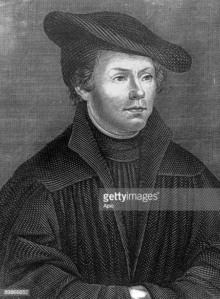 Martin Luther german reformer protestant engraving