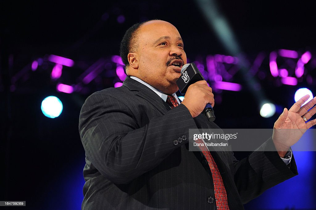 <a gi-track='captionPersonalityLinkClicked' href=/galleries/search?phrase=Martin+Luther+King+III&family=editorial&specificpeople=216411 ng-click='$event.stopPropagation()'>Martin Luther King III</a> addresses the crowd with a powerful message instilled in him by his father, Dr. Martin Luther King Jr., at the first-ever.