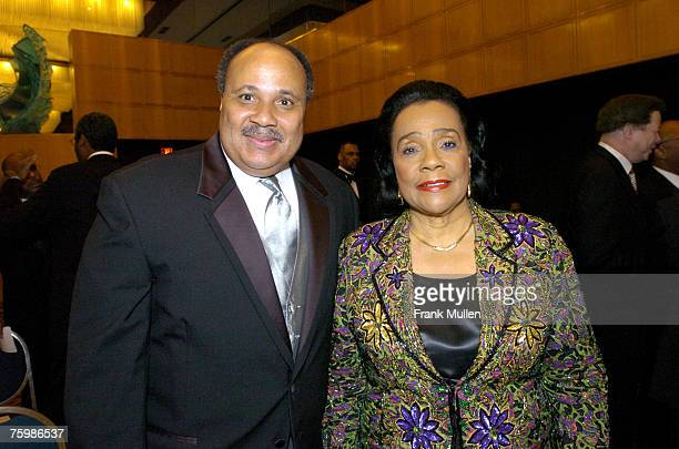 Martin Luther King III and Coretta Scott King