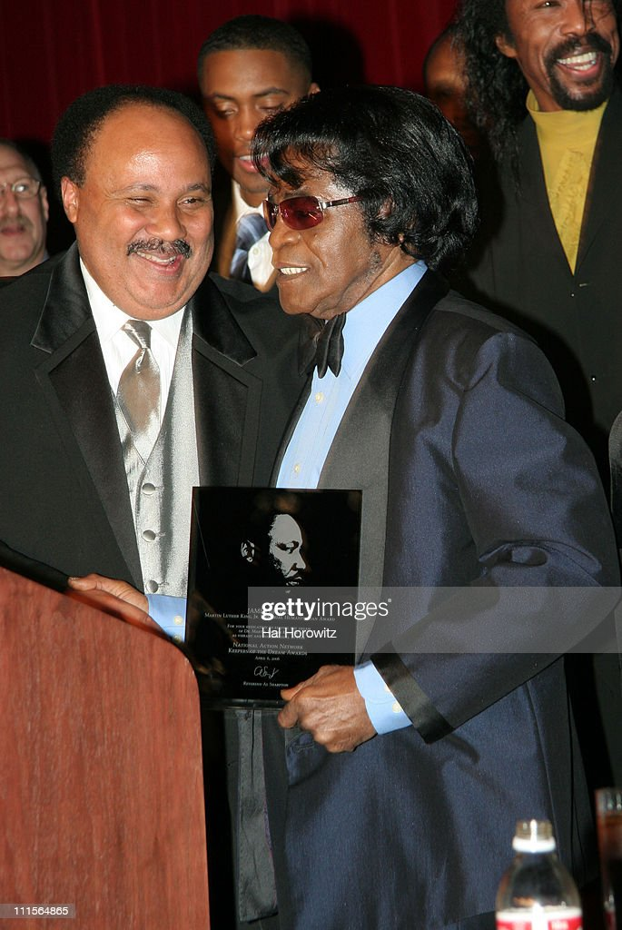 Martin Luther King III and James Brown winner of Martin Luther King Humanitarian Award