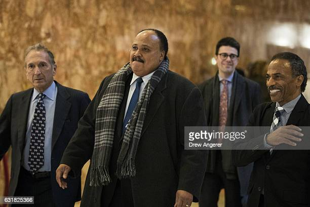 Martin Luther King III arrives at Trump Tower January 16 2017 in New York City Trump will be inaugurated as the next US President this coming Friday