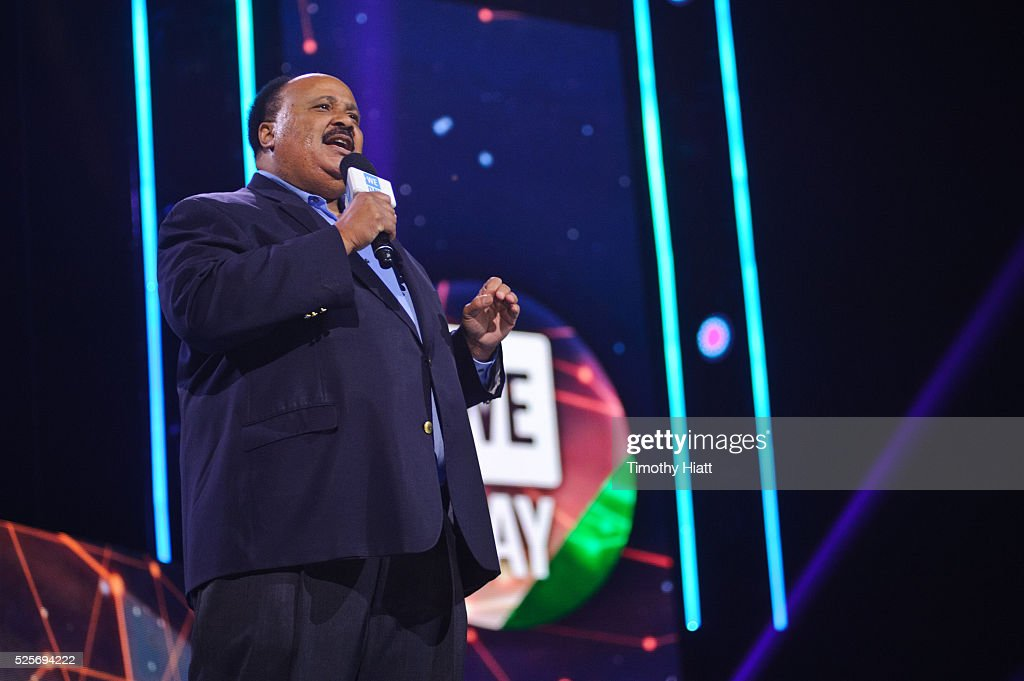 Martin Luther King III attends at WeDay in Illinois at Allstate Arena on April 28 2016 in Chicago Illinois