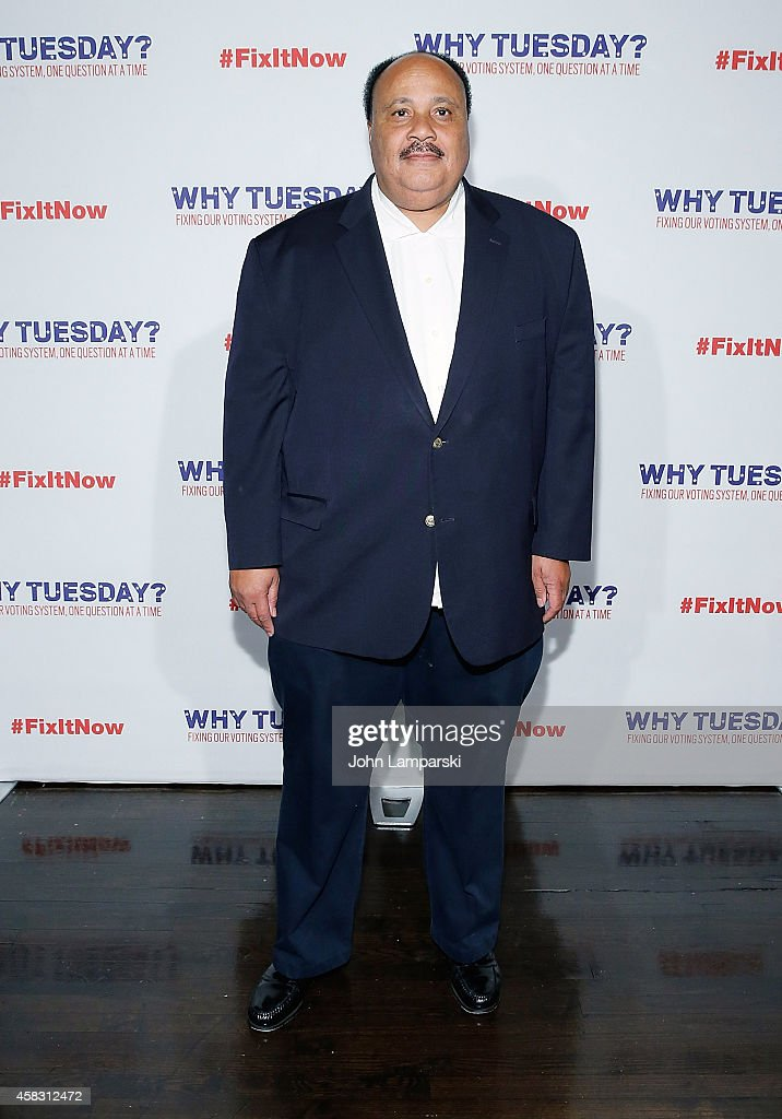 Martin Luther King III attends The Roots 'Lets Fix It' Concert at Webster Hall on November 2 2014 in New York City