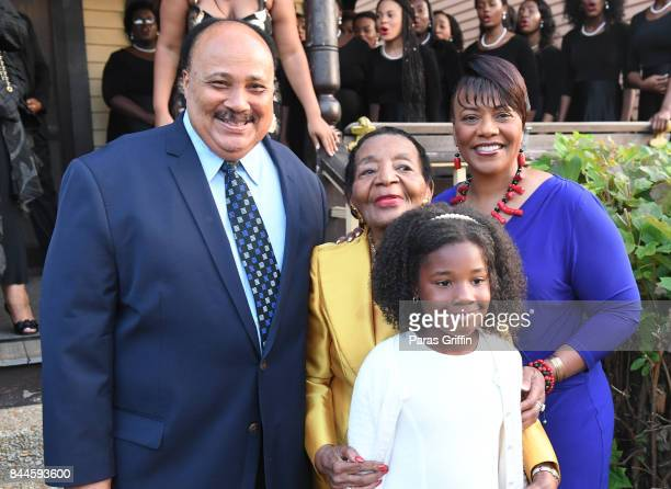 Martin Luther King III Christine King Farris Bernice King and Yolanda Renee King at Dr Christine King Farris 90th Birthday Celebration at King Family...