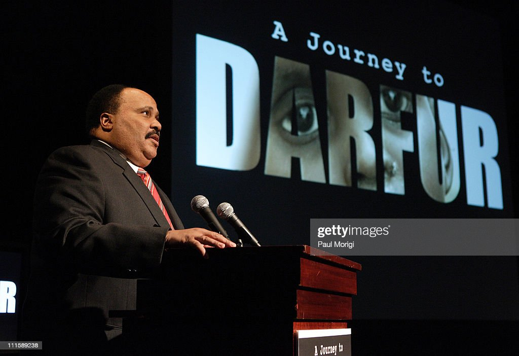 Martin Luther King III during George Clooney's Documentary 'A Journey to Darfur' Premiere Presented by Nick Clooney and Martin Luther King III at...