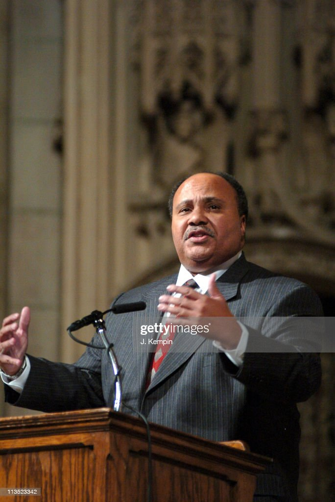 Martin Luther King III during The 'Realizing the Dream' Martin Luther King Jr Tribute January 15 2006 at Riverside Church in New York City New York...