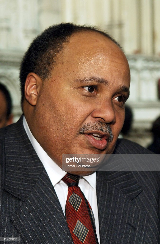 Martin Luther King III during The 'Realizing the Dream' Martin Luther King Jr Tribute Reception at Riverside Church in New York City New York United...