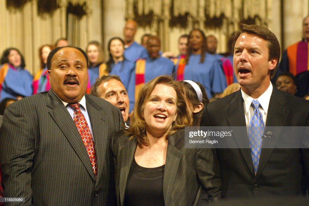 Martin Luther King III Elizabeth Edwards John Edwards and Rev sing the Black National Anthem
