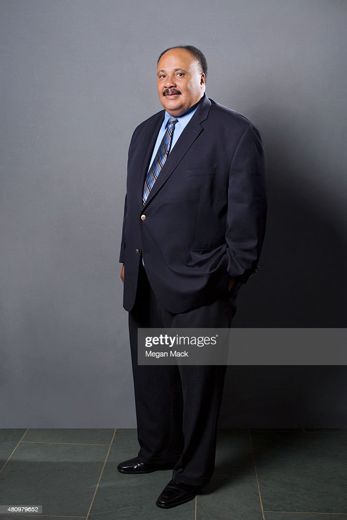 Martin Luther King III poses for a portrait at the Logo TV's 'Trailblazers' at the Cathedral of St John the Divine on June 25 2015 in New York City