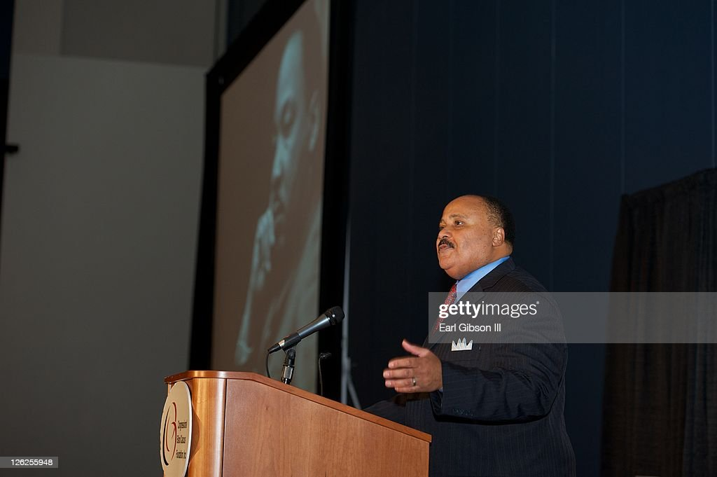 <a gi-track='captionPersonalityLinkClicked' href=/galleries/search?phrase=Martin+Luther+King+III&family=editorial&specificpeople=216411 ng-click='$event.stopPropagation()'>Martin Luther King III</a> speaks at a General Session Luncheon at the Congressional Black Caucus Foundation's 41st annual legislative conference on September 23, 2011 in Washington, DC.